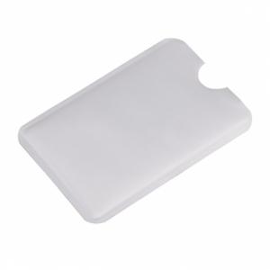 Etui na kartę zbliżeniową RFID Shield, srebrny z logo (R50169.01)