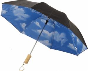 """AVENUE Składany automatyczny parasol Blue-skies o średnicy 21"""" (10909300)"""