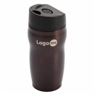 Kubek izotermiczny Edmonton 270 ml, brązowy z logo (R08389.10)