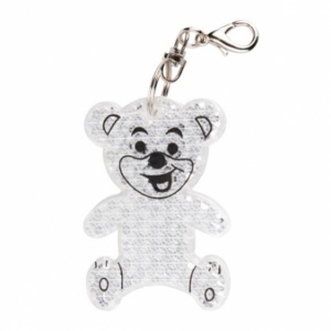 Brelok odblaskowy Teddy, transparentny  (R73235.06)