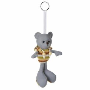 Brelok odblaskowy Teddy, szary z nadrukiem (R73840)