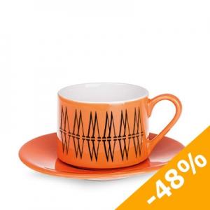 Filiżanka ROMA SET 180 ml pomarańczowy / biały (C220_DA_F0180_0000)