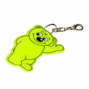 Brelok odblaskowy Beary, żółty z logo (R73245.05)