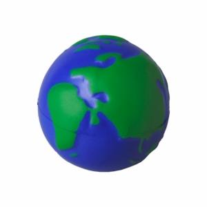 Antystres Globe, granatowy/zielony z logo (R73928)
