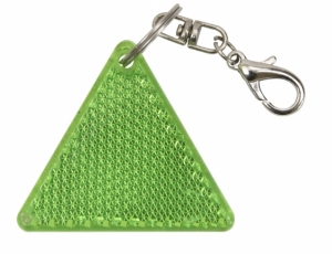 Brelok odblaskowy Safe, zielony/biały  (R73236.05)