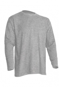 T-shirt Męski z długim rękawem GRAY MELANGE (TSRA 150 LS GM)