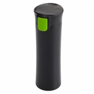 Kubek izotermiczny Montreal 535 ml, jasnozielony/czarny z grawerem (R08334.55)