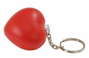 Brelok antystresowy Cute, czerwony z nadrukiem (R73920)