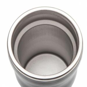 Kubek izotermiczny Skien 350 ml, szary z logo (R08224.21)