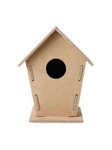 WOOHOUSE Drewniana budka dla ptaków z logo (MO8532-40)