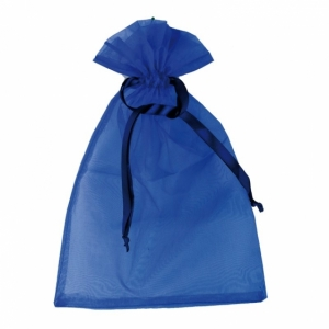 Worek na prezenty, niebieski z nadrukiem (R22921.04)