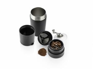 Kubek termiczny z młynkiem do kawy COLUMBIA 360 ml czarny (16000-02)