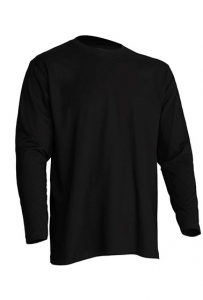 T-shirt Męski z długim rękawem BLACK (TSRA 150 LS BK)