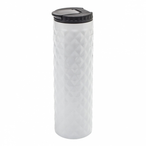 Kubek izotermiczny Dawson 450 ml, biały z logo (R08320.06)