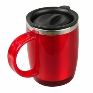 Kubek izotermiczny Barrel 400 ml, czerwony z nadrukiem (R08368.08)