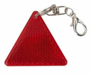 Brelok odblaskowy Safe, czerwony/biały z logo (R73236.08)