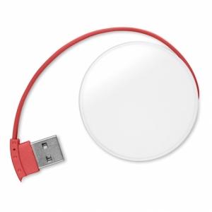 ROUNDHUB Rozdzielacz USB 4 porty z logo (MO8671-05)