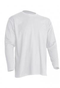 T-shirt Męski z długim rękawem WHITE (TSRA 150 LS WH)