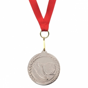 Medal Soccer Winner, srebrny z logo (R22174.01)