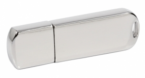 Elegancki Chromowany Pendrive z logo GRATIS (PDm-16_8GB-USB3.0)