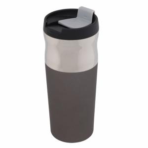 Kubek izotermiczny Ottawa 450 ml, grafitowy/srebrny z logo (R08398.41)