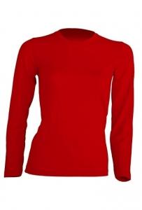 T-shirt Damski z długim rękawem RED (TSRL 150 LS RD)