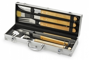 Zestaw do grilla TIMBER 5 elementów w walizce (17625)