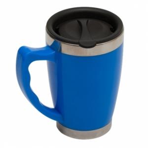 Kubek izotermiczny Copenhagen 380 ml, jasnoniebieski z logo (R08364.28)