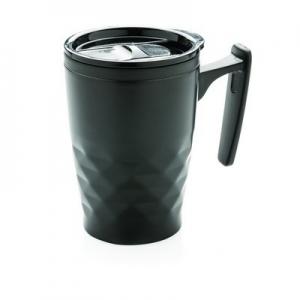 Geometryczny kubek podróżny, do kawy 380 ml (P432.041)