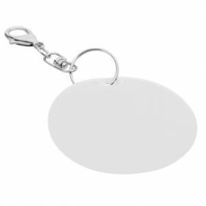 Brelok odblaskowy Reflect, srebrny z logo (R73251.01)